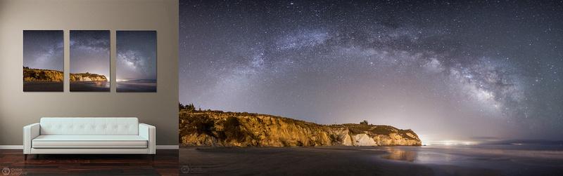 Milky Way Over Avila Panorama