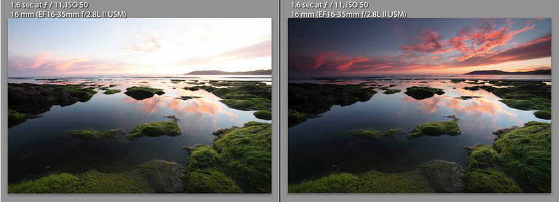 Before and After Reverse Graduated Filter