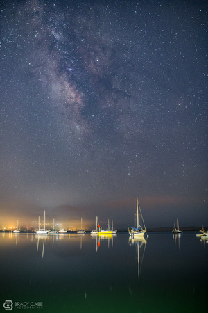 Morro Bay Harbor After Dark